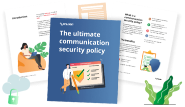 Ebook mockup - The ultimate communication security policy checklist